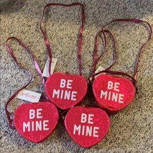 NWT 4 Heart purses